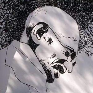 महात्मा गांधी का चित्र