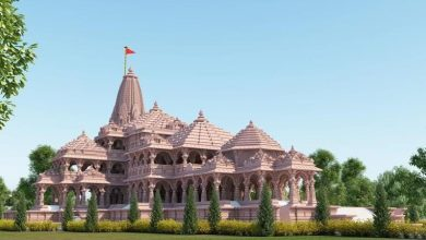 Model of the proposed Ram Temple at Ayodhya