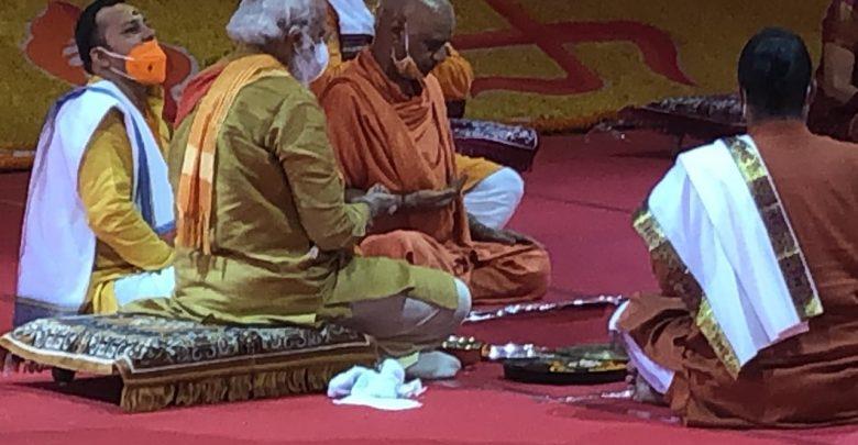 नृत्यगोपाल दास अयोध्या में राम मदिर पूजन मे
