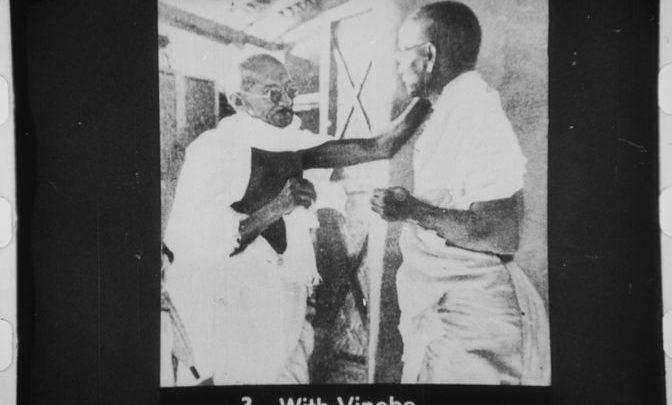Vinoba and Gandhi
