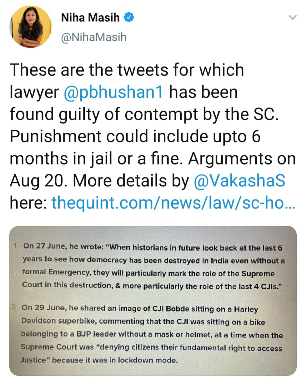 Prashant Bhushan Tweets