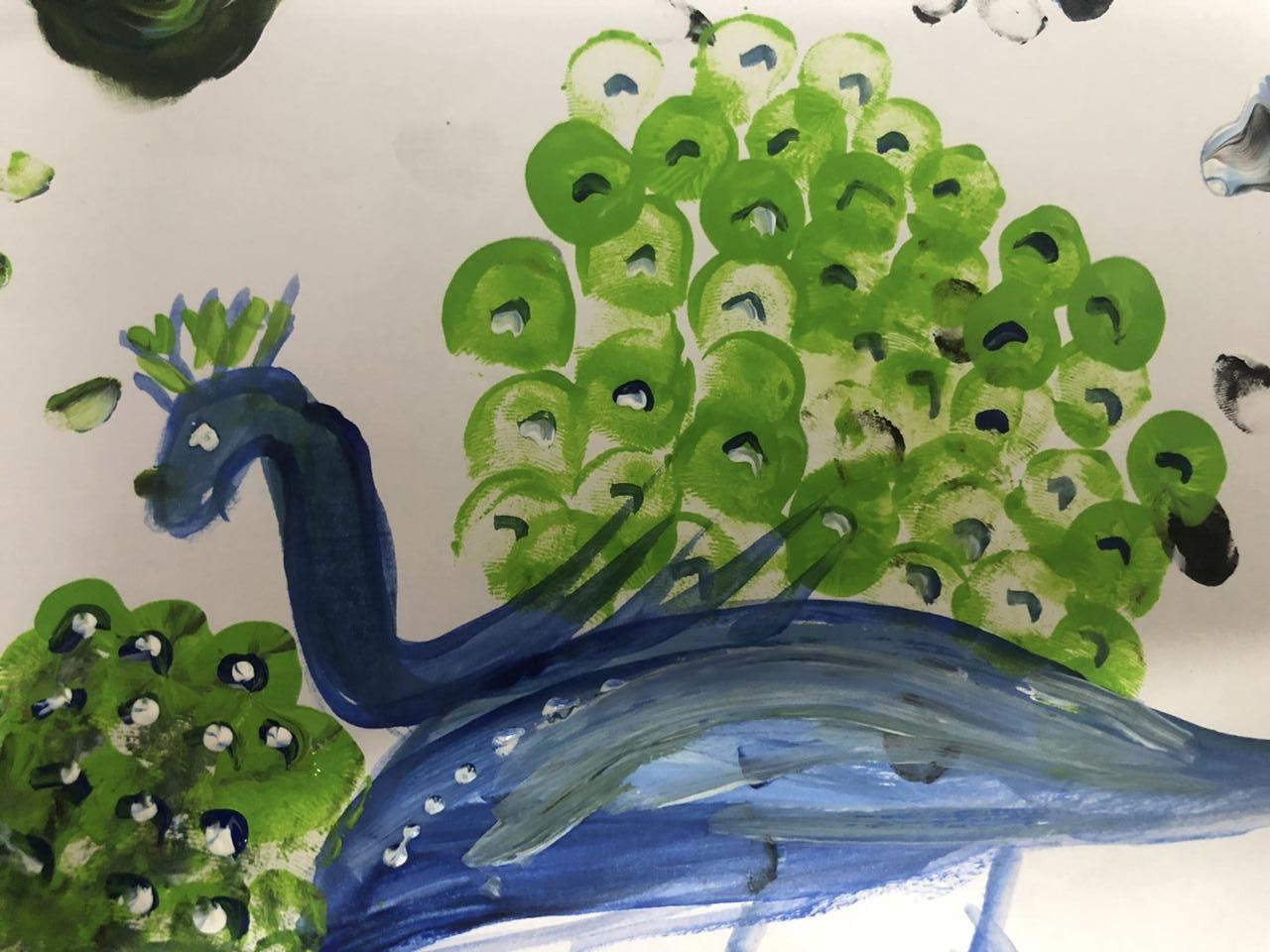 Peacock painting by Praneeta Mishra