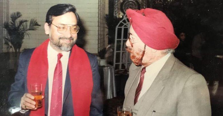 उदयन शर्मा के साथ त्रिलोक दीप
