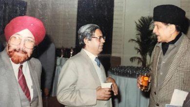 राजेंद्र माथुर के साथ त्रिलोक दीप