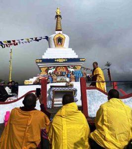 पेमा खांडू ने जंगचुप स्तूप के कार्यक्रम में हिस्सा लिया।