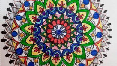 सोमा चटर्जी की मंडल आर्ट पेंटिंग