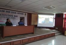 Photo of School of Law and Legal Affairs celebrated National Law Day