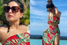 Photo of शार्ट ड्रेस पहनकर समंदर किनारे नजर आईं हिना खान