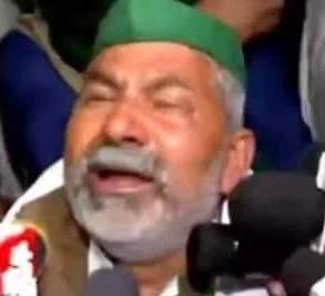 """ऑल्ट=""""किसान नेता राकेश टिकैत के आंसू."""""""