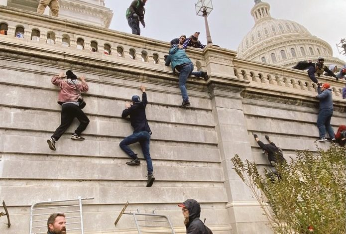 अमेरिकी कैपिटल हिल्स हिंसा